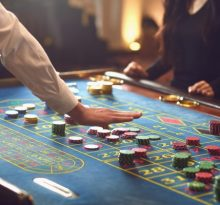 Image of casino roulette table