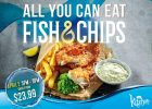 River Cree All You Can Eat Fish and Chips in the Kitchen Restaurant