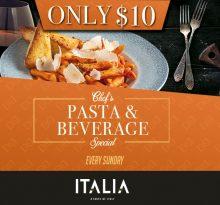 Italia Pasta & Beverage Special